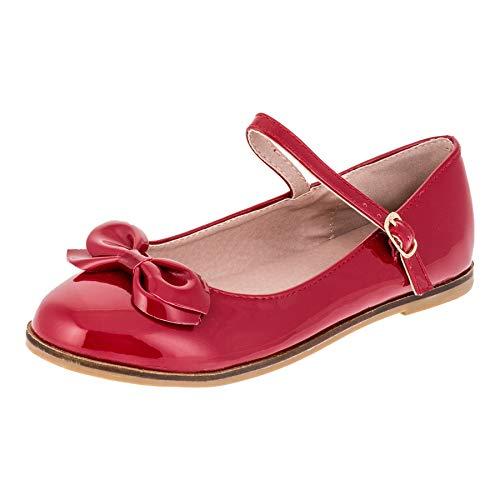 Dorémi Festliche Kinder Mädchen Ballerinas Schuhe für Partys und Freizeit in vielen Farben M297rt Rot Gr.35