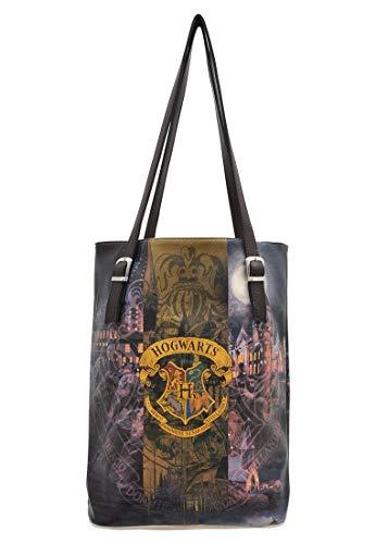 DOGO Damen Handtasche - Shopper - Schultertasche - vegan - Tall Bag - Hogwarts Castle Harry Potter