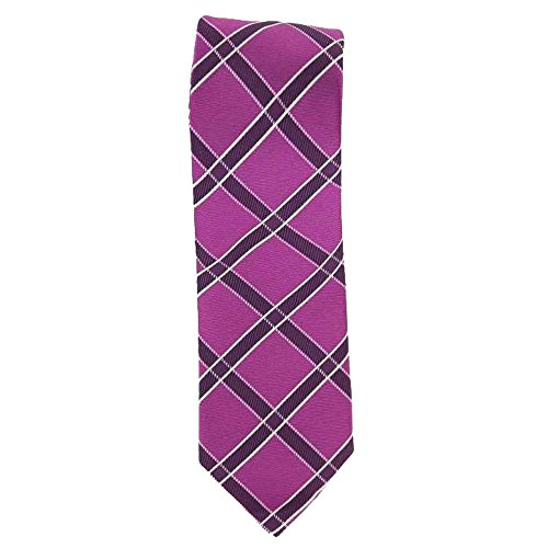 Cotton Park - Cravate 100% soie fuschia - Homme