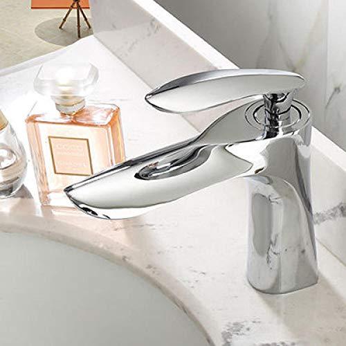 WANDOM messing wastafel waterkraan zwart gouden badkamer waterkraan mixer Tap eenhands warm en koud waterkraan inclusief accessoires chroom