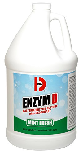 Big D 1504 Enzym D Digester Deodorant, Mint Fresh Fragrance, 1 Gallon (Pack of 4) - Breaks down organic waste and destroys odors - Ideal for use on urine in restrooms and carpets