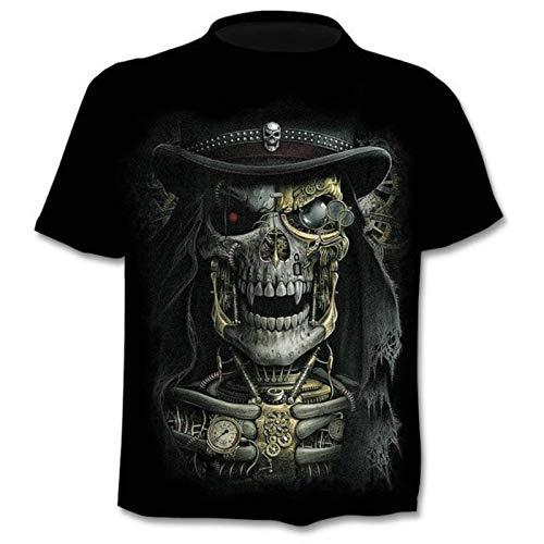3D cráneo camiseta hombres camisa divertido punk anime gótico 3D camisetas ropa