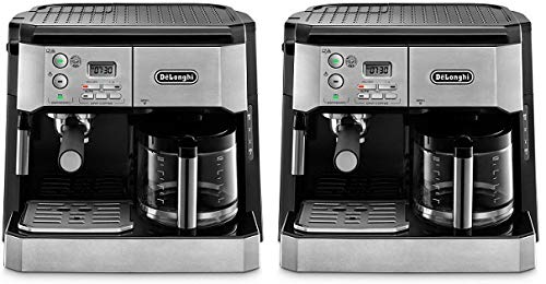 DeLonghi BCO430 Combination Pump Espresso and 10-cup Drip Coffee Machine with Frothing Wand, Silver and Black (2)