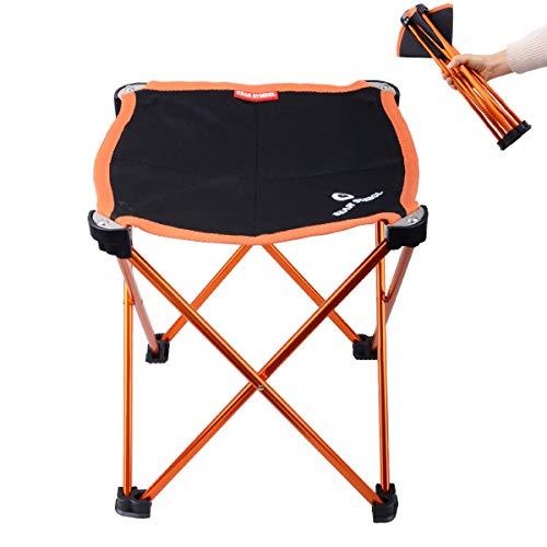 Azarxis Mini Taburete de Camping Silla Asiento Plegable Bajo Peso Ligero Compacto...