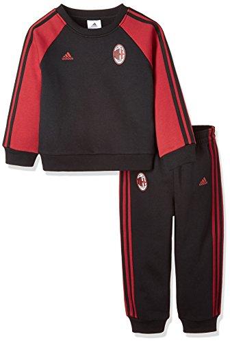 adidas Kinder 3-Streifen Trainingsanzug Ac Mailand, Black/Vicred, 80