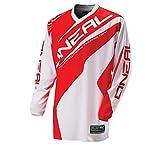 O'Neal Element MX Jersey RACEWEAR Weiß Rot Trikot Mootocross Enduro