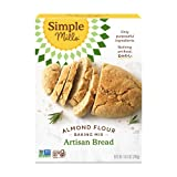 Simple Mills Almond Flour Baking Mix, Gluten Free, Made with whole foods, (Packaging May Vary), (Pack of 1) Artisan Bread Mix, 10.4 Ounce