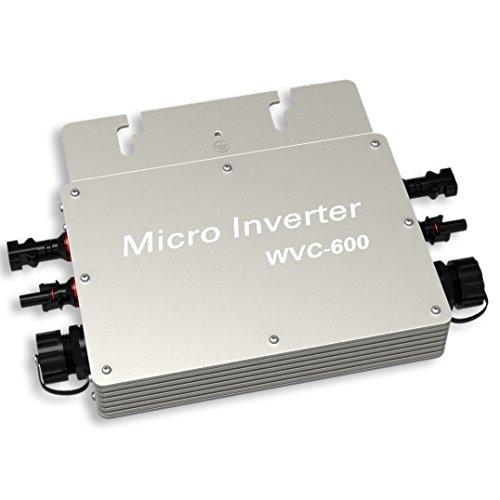 ECO-WORTHY 600W Spannungswandler 24V to 230V Waterproof Wechselrichter Grid Tie Power Inverter for Sonnenkollektor with MPPT Function (600W)