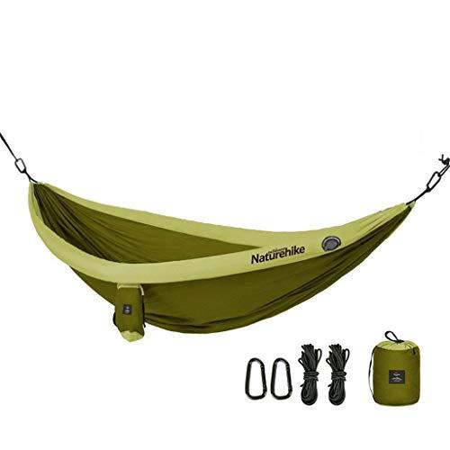 Wuzhengzhijia Hamaca Antideslizante Inflable Doble, Hamaca para Acampar al Aire Libre para niños Adultos con Columpio al Aire Libre, Adecuada para mochilero, Acampada, Viajes, Playa, etc.