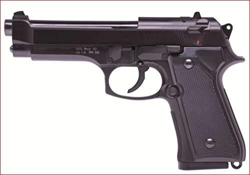 Nerd Clear GS Softair-Pistole Mod. 92 HA-118 Modell System Federdruck schwarz ca. 19 cm max. 0,08 Joule 6 mm Kinder-Pistole Air-Soft Spielzeug-Pistole