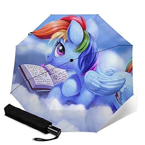 Paraguas plegables My Little Pony Paraguas automático unisex de tres pliegues Impermeable Protección solar Resistente Paraguas duraderos a prueba de viento