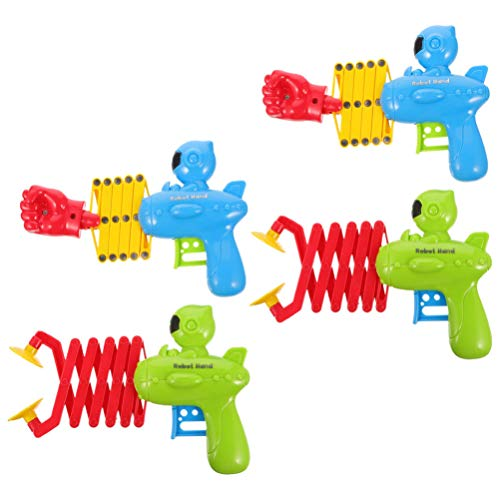 TOYANDONA 4Pcs Juguete de Puño Retráctil Juguete de Agarre de Brazo de Robot de Plástico Extensible Juguete de Tiro Retráctil Bromas Juego de Juguete de Puño para Niños Estilo Aleatorio