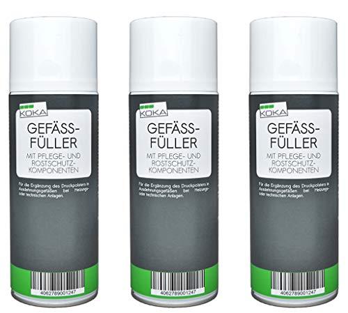 KOKA Gefäßfüller Ausdehnungsgefäß Füller Druck Spray 400 ml x 3
