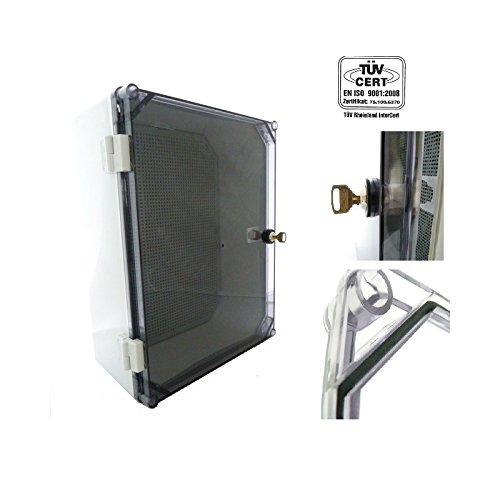 Schaltschrank mit Schloss UNI-1/T 400x300x160mm Verteilerschrank Industriegehäuse Schaltkasten IP65 43.11 AUFPUTZ 5757