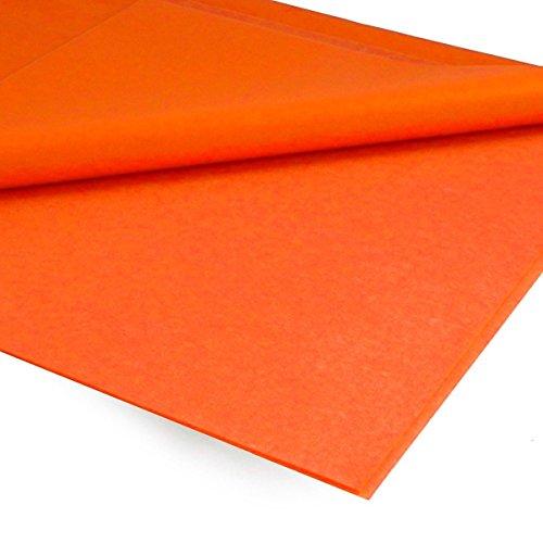 Papel Seda ARTÉS 51 x 76 cm. Naranja, Mano x25 Pliegos