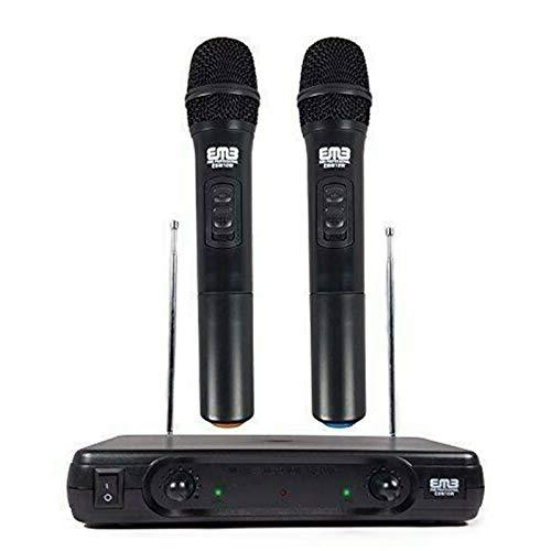 EMB Pro EBM10W Professional Dual VHF Wireless Handheld Microphone System