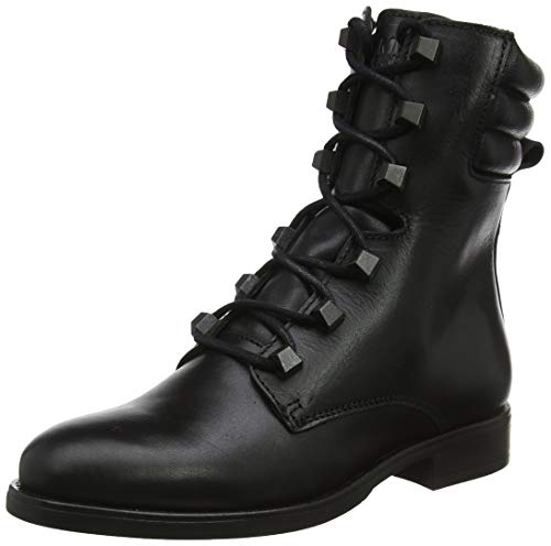 Tommy Hilfiger Damen PIN Logo LACE UP Boot Stiefeletten, Schwarz (Black Beh), 40 EU