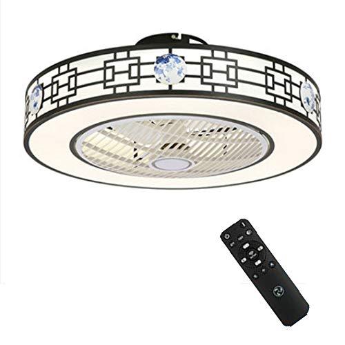 Ventiladores Techo con Luces Led Y Control Remoto Ventilador Invisible, Lámpara Estilo Chino Iluminación Lámpara Ajustable Velocidad Viento Y Regulable, para El Dormitorio Habitación De Los Niños
