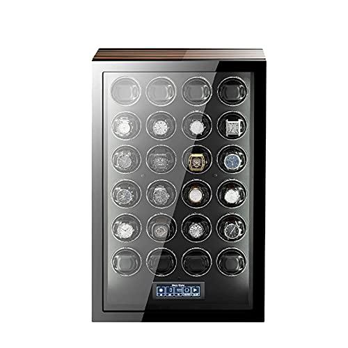 SGSG Enrollador de Reloj para 24 Relojes automáticos con 5 Modos de rotación y Control Remoto Iluminación incorporada para Hombres y Mujeres con Almohadas de Reloj Suaves y Flexibles Caja de Alma