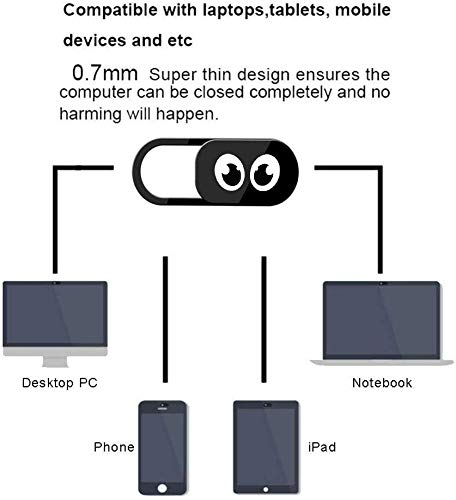 AviBrex Webcam Abdeckung,Laptop Webcam Cover(6 Pack), Slider Camera Cover Ultra Thin Webcam Privacy Cover Fits MacBook,iPad,Laptop,PC,Echo Spot,Smartphones,Tablets,iMac MacBook,Computer,etc(Eye)