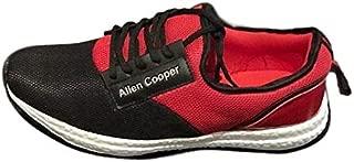 Allen Cooper Running Shoes for Men - Black and Red