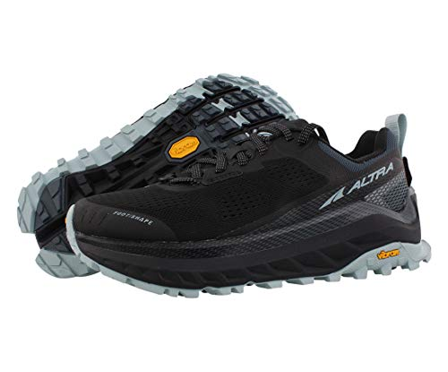 ALTRA Women's AL0A4VQW Olympus 4 Trail Running Shoe, Black/Light Blue - 9 M US
