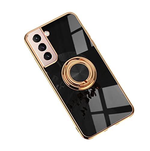Jacyren Hülle für Samsung Galaxy S21 Plus Handyhülle, Galaxy S30 Plus Schutzhülle S21 Ultradünn TPU Silikon Case magnetische KFZ-Halterung mit 360° Finger-Halter...