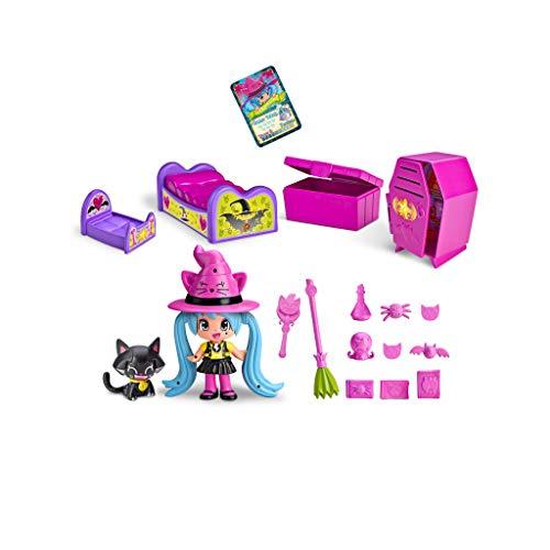 Pinypon - Habitación de Las Brujitas, con Accesorios y 1 figurita de Bruja, para niños y niñas de 4 a 8 años (Famosa 700014715)