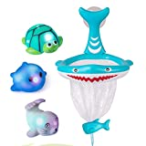 Bath Toys Fun Baby Bathtub Toy Shark Bath Toy for Toddlers Boys & Girls Shark Grabber with 4 Toy Fish Included (Shark Hoop & Friends)