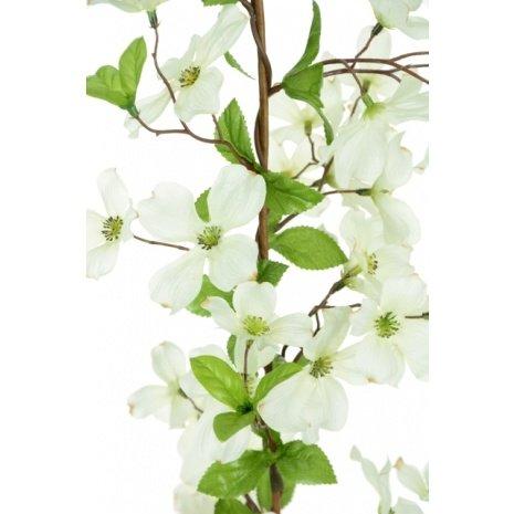 FloristryWarehouse Artificial Silk Dogwood Flower Garland White 150cm