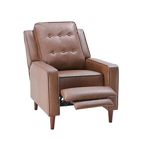 Z-Color Sillón Manual reclinable para el hogar, Sala de Estar con Estilo Medieval, Madera Maciza confiable, Cuero, Adecuado para Dormitorio, Oficina en casa