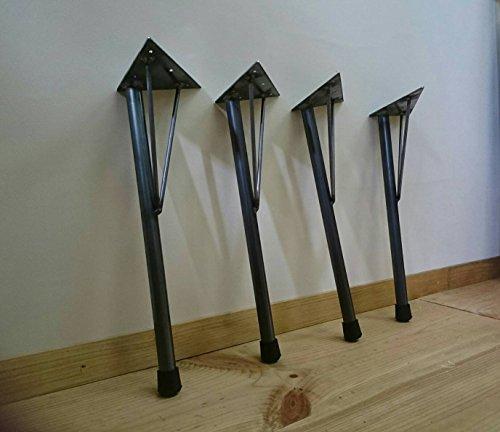 アイアンレッグ DIY素材 鉄脚S ベンチ脚 4本セット 鉄足 椅子 標準高 H40.5cm