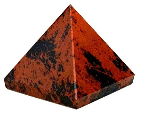 Reviheal ™ Healing Ornament Natürliche Mahagoni Obsidian Feng Shui Pyramide 40 bis 50 MM for harmonize