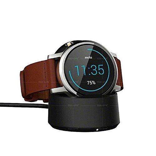 Sikai Caricabatterie Wireless per Motorola Moto 360 2a Generazione Smartwatch Portatile Qi Wireless Cavo di Ricarica per Ticwatch 1/2 Watch Caricatore Magnetico Accessori (Nero)