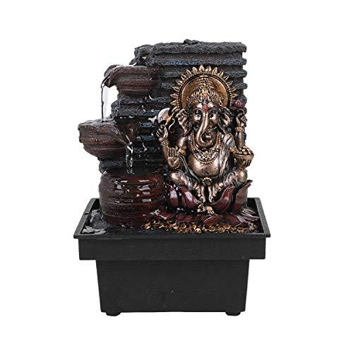 Pacific Giftware Elephant-Headed Hindu god Ganesha Flowing Water Fountain Resin Home Decor