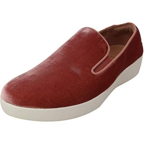 FitFlop Womens Superskate in Velvet Loafer Shoes, Deep Plum, US 7.5