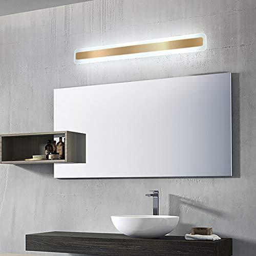 Lámpara de espejo para baño LED moderna aplique de pared, Plafón rectangular de techo dormitorio creativa, iluminación de techo para sala de estar, escalera, pasillo, oficina, IP44, 80cm, Luz blanca