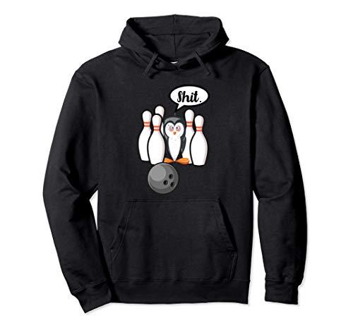 Shit Pinguin Bowling Kegel Pinguin lustig witzig Design Pullover Hoodie