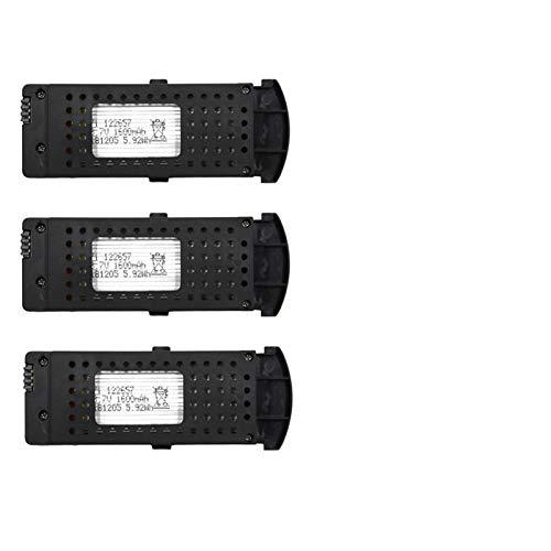 NHFGJ 1/2/3 Piezas 3,7 v 1600 mAh batería de Lipo para SG700D SG700-d / ZD5-L / S6 Drone RC Quadcopter repuestos batería de Drone Green