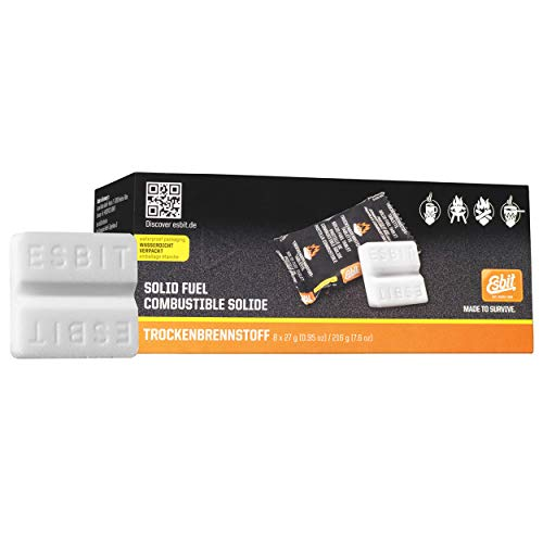 Esbit Solid Fuel Tablet qnty 8 X 27g, White (E-Fuel 8X27)