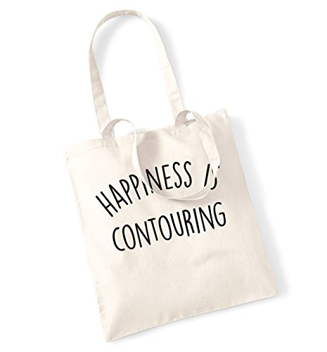 happiness is contouring tote bag