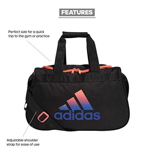 adidas Unisex's 5150762 Diablo Small Duffel Bag, Black/Pink/Royal Blue, One size