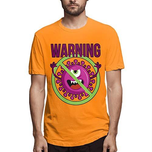 Stop Coronavirus - Camiseta de manga corta para hombre Naranja naranja L