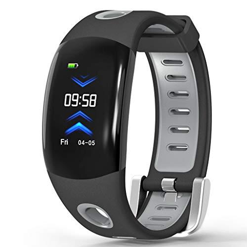 APCHY Reloj Inteligente Smartwatch De Hombres,Versión En Inglés Monitores De Actividad 3D De Alta Definición Multifuncional Smart Sports Natación Pulsera Impermeable, Ritmo Cardíaco Y Pulsera,B