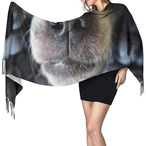 Cathycathy hondenase, de dieren van de zwarte druif stoot hondenvoeding en drank-sjaal-plafond-karo-verpakkingssjaal