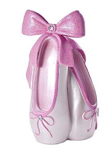 Mousehouse Gifts Huchas niños Adulto niña con Forma de Zapatilla de Ballet Rosa con Purpurina