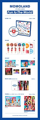 Momoland - [Fun to The World] 4th Mini Album CD+52p Booklet+1p PhotoCard+5p Sticker K-POP Sealed