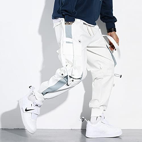 DOUYUAN Pantalón Cargo de Punk Pant Pantalones Deportivos de Hip Hop for Hombres Pantalones for Correr Tactical Pantalones for Hombres Tacticol Wearwear Harem Pants Streetwear Bolsets