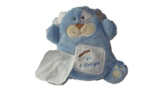 Doudou et Cie - Doudou Doudou et Compagnie monstre bleu mouchoir - 6521