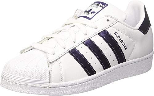 Adidas Women's Superstar Trainers Shoes, White (Ftwbla / Pumeno), 3.5 UK